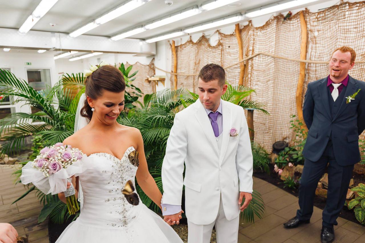 Svatební obřad v Motýlím domě